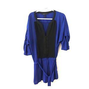 BCBG Royal Blue Tuxedo Romper